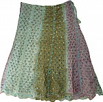 Shadow Shaded Silk Skirt