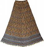 Vegetable Dyed Block Print Skirt