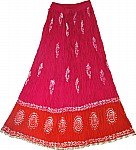 Cerise Red Gypsy Summer Skirt