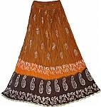 Vesuvius Crinkle Long Skirts