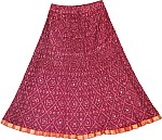Vin Rouge Party Short Skirt