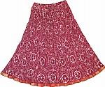 Vin Rouge Short Skirt