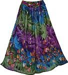 Spring Garden Poppy Skirt
