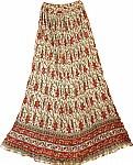 Mojo Folk Boho Tall Cotton Skirt