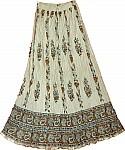 Light Brown Crinkle Cotton Skirt