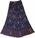 Cloud Burst Summer Tall Long Skirt