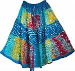Bahama Blue Tie Dye Skirt
