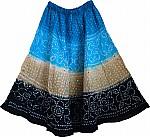 Boho Tie Dye Sequin Long Skirt