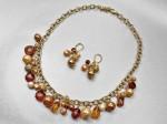 Golden Tone Necklace Set