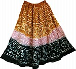 Hawaiian Tan Long Tie Dye Skirt
