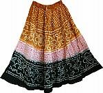 Hawaiian Tan Long Tie Dye Skirt