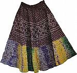 Congo Brown Ethnic Cotton Skirt