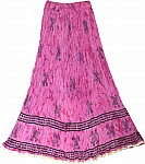 Hibiscus Pink Tall Cotton Summer Skirt