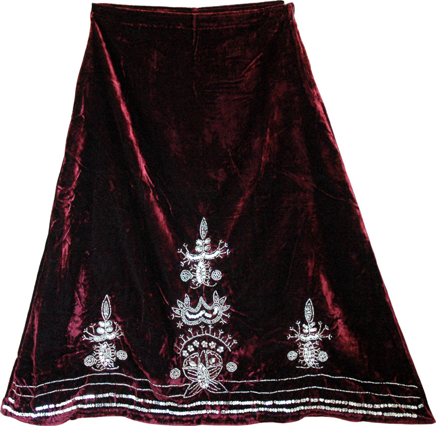 Plush Velvet Skirt, Heath Velvet Sequin Skirt