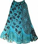 Smalt Blue Womens Long Skirt