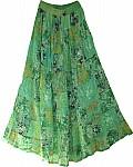 Olivine Green Georgette Skirt