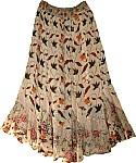 Sandalwood Georgette Skirt