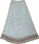 White Voile Womens Skirt