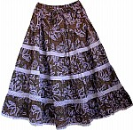 Cocoa Brown Cotton Summer Skirt