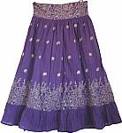 Royal Purple Bohemian Skirt