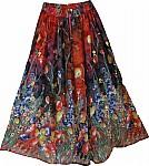 Ebony Clay Mixed Long Skirt