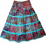 Fountain Blue Bloom Spring Skirt