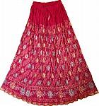 Shiraz Festive Crinkle Cotton Long Skirt