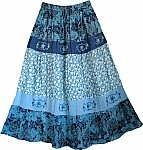 Nepal Floral Cotton Skirt