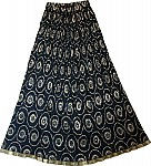 Chakra Ethnic Long Black Skirt