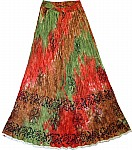 Tahitian Summer Long Skirt
