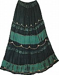 Timber Green Womens Long Skirt