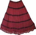 Stiletto Womens Georgette Skirt