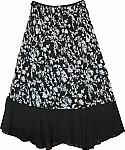 Floral Print Womens Long Skirt