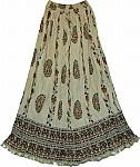 Gurkha Crinkle Cotton Skirt