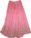 Pink Orange Sequin Skirt