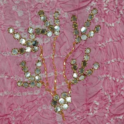 Cascade Silk Skirt with Sequins