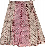 Old Rose Romantic Silk Skirt