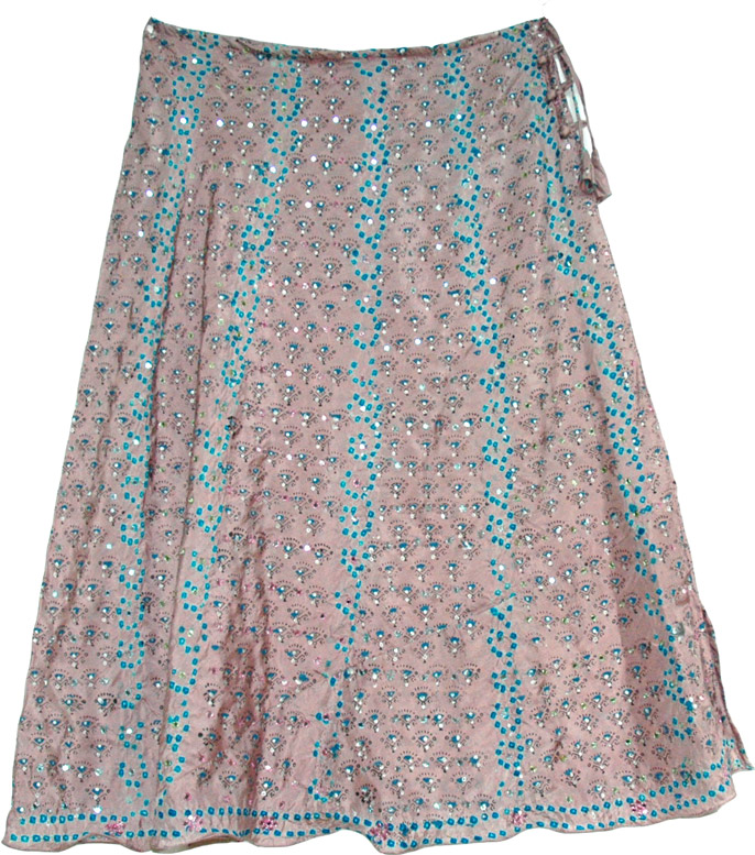 Shaded Fashion Silk Skirt, Del Rio Long Silk Skirt