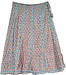 Shaded Fashion Silk Skirt [1544]
