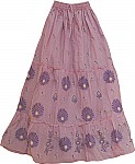 Oriental Lily Cotton Floral Skirt