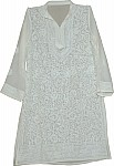 White Summer Long Tunic Top