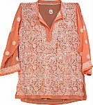 Light Orange Embroidered Tunic