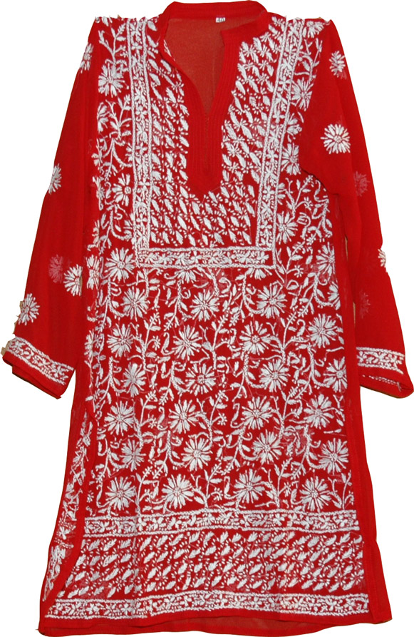 Spanish Red Ladies Tunic Shirt from thelittlebazaar.com