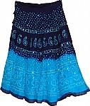 Eastern Blue Ethnic Cotton Skirt