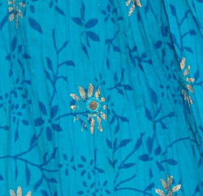 Chilled Blue Short Crinkle Skirt