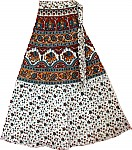 Ethnic Print Long Wrap Skirt