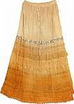 Ochre Sequin Long Skirt
