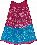 Tie Dye Cotton Sequin Skirt
