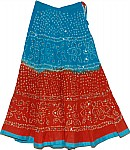 Eastern Blue Cotton Sequin Skirt