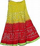 Ethnic Cotton Sequin Skirt